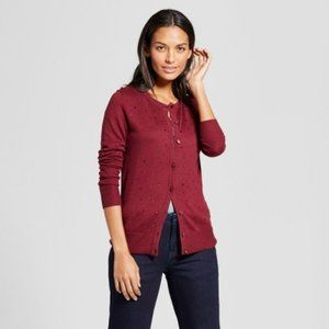A New Day Cardigan Embellished Allover Gem Maroon